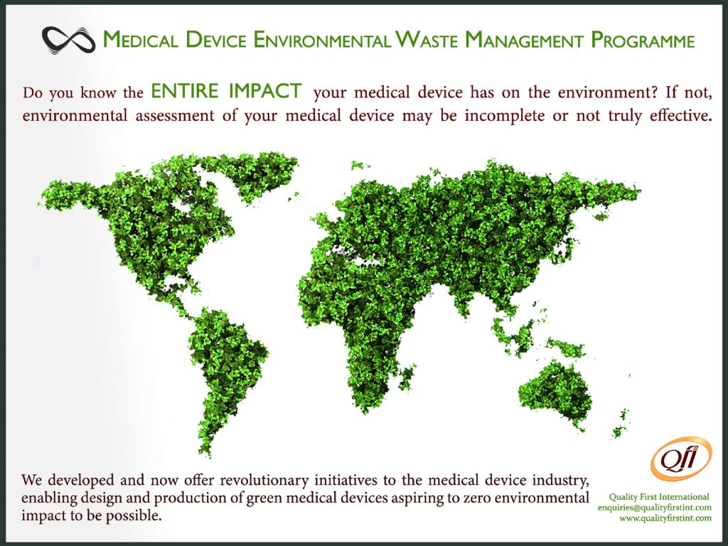 Medical device environmental waste management programme